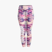 Pink Rhombus Workout Leggings