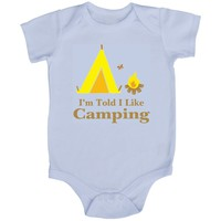 Rocket Bug 'I'm Told I Like Camping' White Baby Bodysuit | Overstock.com Shopping - The Best Deals on Neutral