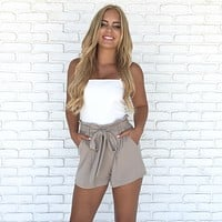 Flow in the Wind High Waist Shorts In Mocha