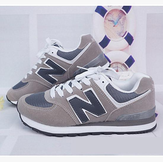 Image of New balance abric is breathable n leisure sports Couples forrest gump running Grey