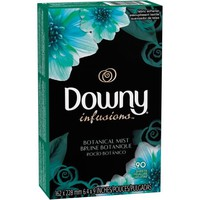 Downy Infusions Botanical Mist Fabric Softener Sheets, 90 sheets - Walmart.com