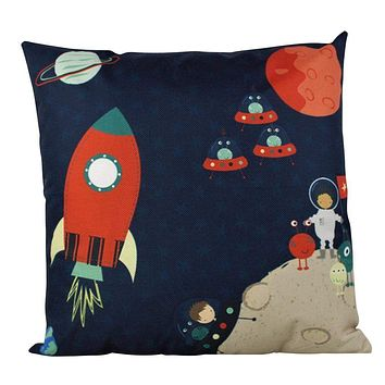 Fly to the Moon | Rocket | Moon | Fun Gifts | Pillow Cover | Home Decor | Throw Pillows | Nursery Decor | Kids Room Decor | Room Decor