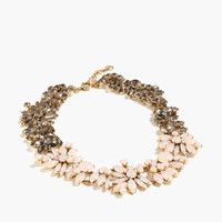 Two-tone floral necklace : | J.Crew