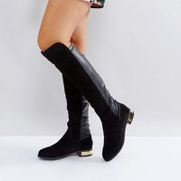 Carvela Suede Knee High Flat Boot at asos.com