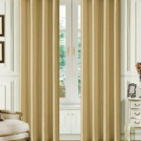 Dainty Home Madrid Grommet Faux Silk Solid Window Panel, 55 by 84-Inch, Antique