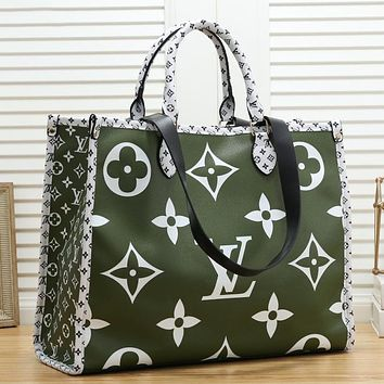 LV Louis Vuitton Hot Selling Fashion Ladies Tote Bags Shopping Bags Contrast Color LOGO Pattern Shoulder Bag