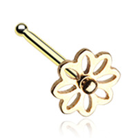 Golden Color Daisy Breeze Flower Nose Stud Ring - 20 G - Sold as a Pair