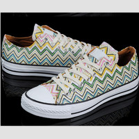 """Converse"" Fashion Canvas Flats Sneakers Sport Shoes Wave"