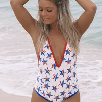 Be A Firework Red White & Blue One Piece