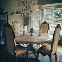 Fabulous and Baroque — Noblesse Chair - Gold Leaf - Client Photo