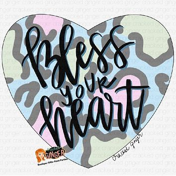 Bless your leopard print heart Cutout and Kits
