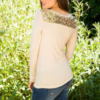 By Starlight Sequin Top - Gold