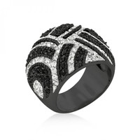 Lovely Black And White Cocktail Ring-CasaMom's Everything