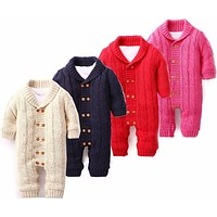 Winter baby suits boy and girl baby velvet clothing baby clothes cute baby rompers