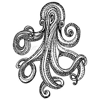 Paisley Octopus Waterproof Temporary Tattoos Lasts 3 to 4 days Choose Small, Medium or Large Sizes