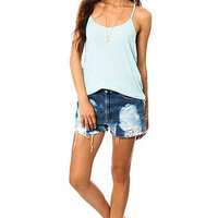 RVCA The The Label Scoop Tank in Eggshell Blue : Karmaloop.com - Global Concrete Culture