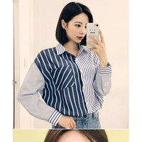 Buy HOTPING Pocket-Detail Striped Shirt | YesStyle