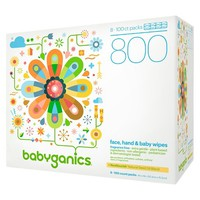Babyganics Face, Hand & Baby Wipes, Fragrance Free - 800ct