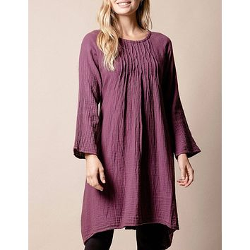 Brenley Tunic Dress - Plum - As-Is-Clearance
