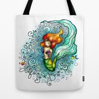 Life is de bubbles Tote Bag by Mandie Manzano