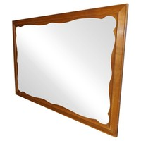 Pre-owned Vintage Scalloped Frame Ethan Allen Wall Mirror