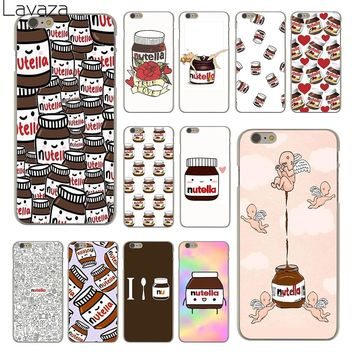 Lavaza chocolate Food Tumblr Nutella Hard Clear Skin Cover Case for Apple iPhone 6 6S 6 S Back Phone Case Coque Shell