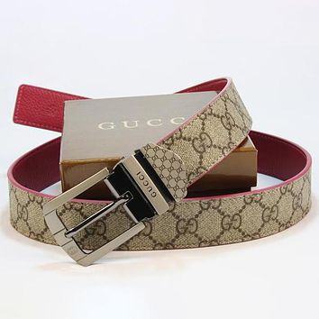 GG Woman Fashion Smooth Buckle Belt Leather Belt