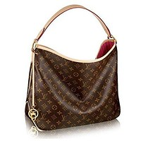 Louis Vuitton LV Monogram Delightful Handbag Shoulder Bag Women