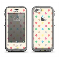 The Tan & Colored Laced Polka dots Apple iPhone 5c LifeProof Nuud Case Skin Set