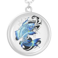 Cool Japanese Koi Fish Lucky Necklace from Zazzle.com