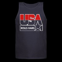 USA ROLLS HARD TANK TOP - RED/WHITE