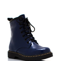 In-Full-Combat-Boots BLUE BURGUNDY GREEN GREY TAUPE - GoJane.com