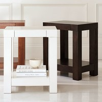 Parsons End Table - White