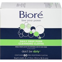 Biore Daily Cleansing Cloths, 60ct - Walmart.com