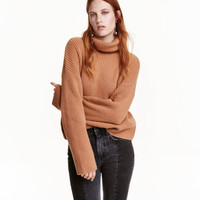 Wool Turtleneck Sweater - from H&M