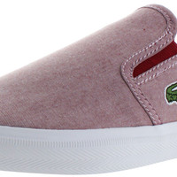 Lacoste Gazon Sport Mens Slip On Sneakers Shoes Chambray