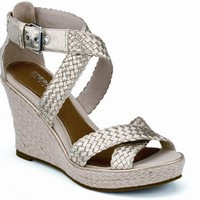 Sperry Top-Sider Harbordale Wedge Sandal PlatinumWoven, Size 11M  Women's Shoes
