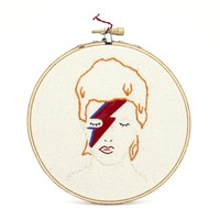 David Bowie Embroidery