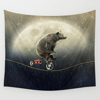 balancing act (under the weather) Wall Tapestry by Seamless