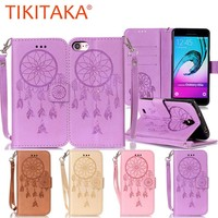 Leather Flip For iPhone 7 6 6s Plus SE 5 5s Case Retro 3D Embossed Dreamcatcher Wallet Cover For Samsung Galaxy S7 S6 edge S5 S4