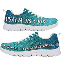 Psalm 119:105 | Shoes with Bible verses on them