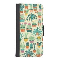 Cactus Pattern iPhone 5 Wallet Case