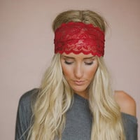 Lace Women Embroidery Hair Muffs Band Lace Boho Yoga Hair Bands Bohemian Turban Head Wrap Headband Crochet Knit Hair Bows W1