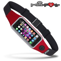 Mo-Fit® Waist Pack / Running Belt for iPhone, Android and most Smartphones | Racing Red