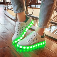 Korean LED Lightning Flat Casual Fashion Noctilucent Shoes [6734571207]