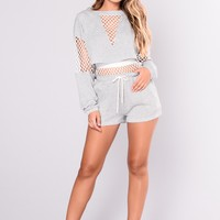 Jax Shorts - Heather Grey