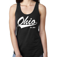 Ohio Ladies  Racerback Tank Top