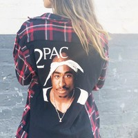 Late Night Gypsy Tupac Flannel