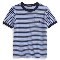 Boy's Ralph Lauren Stripe Pocket T-Shirt,