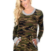 Camo Top with Pockets